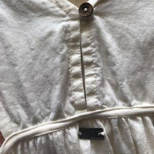 Roxy Dresses - Roxy white sundress/coverup with patterned center